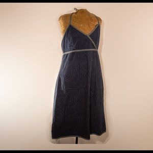 GAP Halter Dress Size 12 Denim Blue Womens